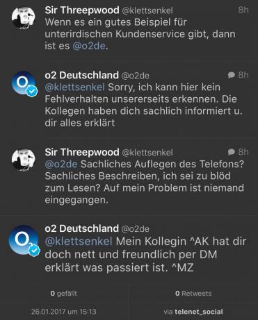 Der Kundenservice von o2