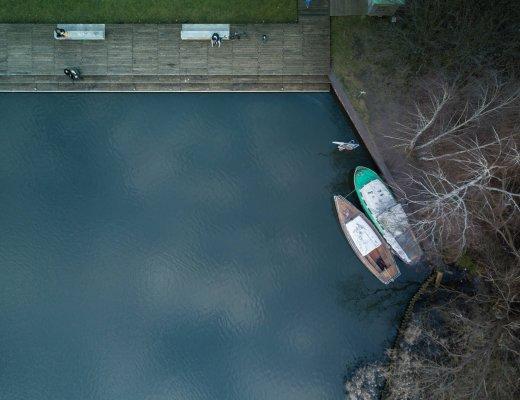 Luftaufnahmen der Rummelsburger Bucht